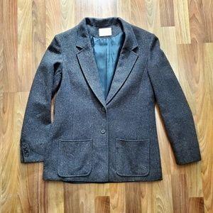 VTG 80s Pendleton Slim Wool Tweed Blazer
